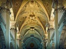 Inside of a Cathedral during Day Time Royalty Free Stock Photography