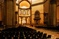 Inside Cathedral of Florence. Main Cathedral of Florence on the Piazza Del Duomo Stock Images