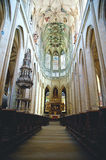 Inside cathedral in Kutna Hora Stock Image