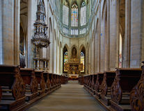 Inside cathedral in Kutna Hora Royalty Free Stock Image