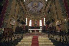 Inside the Cathedral of Macerata Royalty Free Stock Image
