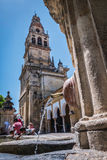 Inside the Cathedral mosque in the courtyard called `Los Naranjos` of Cordoba, Spain Royalty Free Stock Images