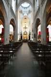Inside Cathedral of Our Lady, Antwerp Royalty Free Stock Images
