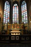 Inside Cathedral of Our Lady, Antwerp Stock Image