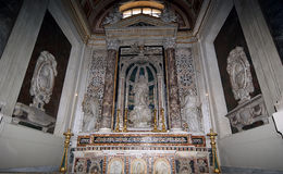 Inside the cathedral of Palermo, Sicily, southern Italy Royalty Free Stock Photography