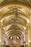 Inside the cathedral on the Plaza de Armas in Lima, Peru Stock Photos