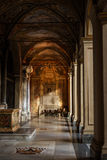 Inside cathedral in Rome Royalty Free Stock Image