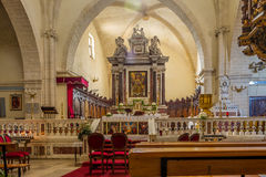 Inside of cathedral Sant Antonio Abate in Castelsardo Royalty Free Stock Photography
