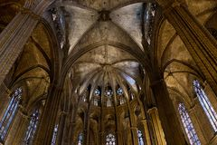 Inside cathedral Royalty Free Stock Photos