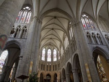 Inside Of Cathedral of St. Martin in Brussels Stock Images