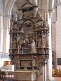 Inside the Cathedral of Trier royalty free stock photo