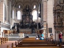 Inside the Cathedral of Trier stock images