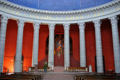 Inside the catholic church. Interior of St Ludwig catholic church in Darmstadt, Germany Stock Images