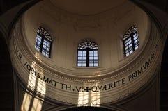 Inside catholic church Royalty Free Stock Image