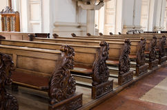 Inside of a catholic church Royalty Free Stock Images