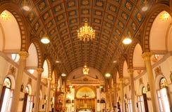Inside of Catholic church Royalty Free Stock Photo