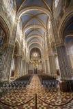 Inside catholic church Stock Image