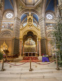 Inside catholic church Royalty Free Stock Photo