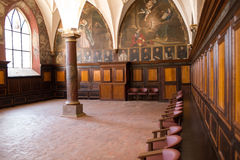 Inside Catholic church. Stock Photos