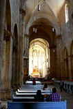 Inside the catholic church in the fortress of  Alba Iulia, Transylvania Royalty Free Stock Photos