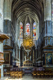 Inside of the catholic church of Saint Merri in Paris Stock Photography