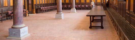 Inside Catholic church. Royalty Free Stock Photo