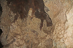 Inside the Cave of Colossal Cave Mountain Park Stock Image