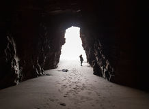 Inside the cave. Royalty Free Stock Photography