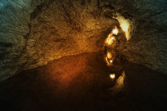 Inside the cave. Royalty Free Stock Photo