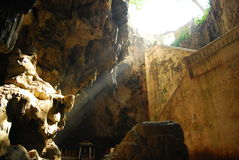 Inside the cave view. Stock Image