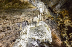 Inside the Caves of HanGrottes de Han in Ardennes, Belgium Royalty Free Stock Image