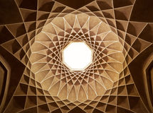 Inside the Ceiling Dome of Pavilion in Dowlat Abad Garden of Yazd Royalty Free Stock Photo
