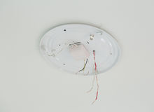Inside of ceiling lamp Stock Images