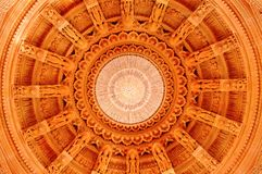 Inside center dome of BAPS Shri Swaminarayan Mandir Pune. Maharashtra royalty free stock images