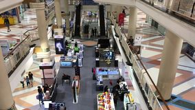 Inside of Central Chiangmai Airport Plaza. stock video