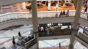 Inside of Central Chiangmai Airport Plaza. stock video footage
