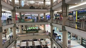 Inside of Central Chiangmai Airport Plaza. stock footage