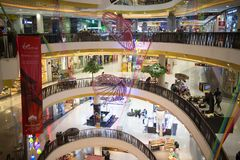Inside Central Festival Chiang mai. CHIANG MAI, THAILAND -MARCH 30 2018: Central Festival Chiang mai. New Business Plaza of Chiangmai. About 3 Km. from stock photography