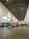 Inside the central railway station in Stuttgart, Germany Stock Photo
