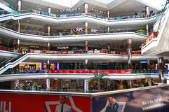 Inside of Cevahir Mall in Istanbul, Turkey. Inside of one of the biggest shopping malls in Istanbul, Turkey, Cevahir Mall Royalty Free Stock Image