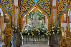 Inside Chalong temple Phuket Thailand Royalty Free Stock Photo