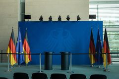 Inside the Chancellery Building in Berlin-Mitte Royalty Free Stock Image