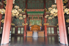 Inside of The Changdeokgung Palace Stock Photography