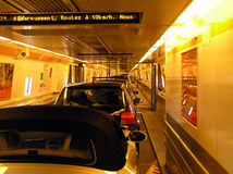Inside the Channel Tunnel Royalty Free Stock Image