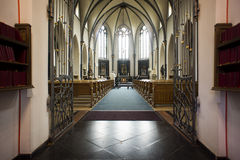 Inside of a chapel. Inside of a old catholic chapel Royalty Free Stock Photos