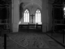 Inside the Chapel. Inside the old round chapel in the castle of Würzburg Royalty Free Stock Images