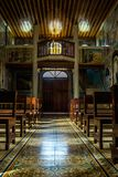 Inside the chapel royalty free stock images