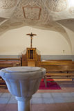 Inside the chapel of a sanctuary Stock Images