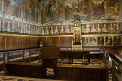 Inside Chapterhouse of Cathedral in Toledo Spain stock images