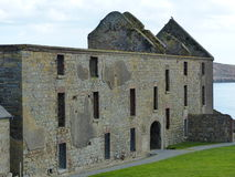 Inside Charles Fort Kinsale County Cork Ireland. Inside the complex of Charles Fort Kinsale County Cork Ireland viewing the ruin of the main building royalty free stock images